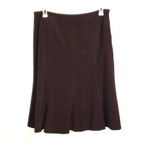 Chocolate brown skirt by dressbarn
